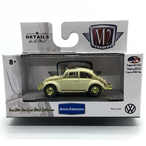 M2 Machines Limited Edition GOLD CHASE Piece 1967 VW Beetle Deluxe U.S.A. Model Auto-Thentics Volkswagen Release 4 - Castline 2017 Premium Edition 1:64 Scale Die-Cast Vehicle (1 of only 750)