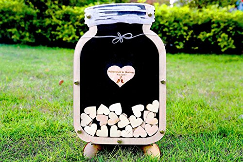 Mason Jar guest book, Wedding guest book alternative, Drop Box Mason Jar, Unique wedding Wedding Sign Frame, wooden Drop - Wooden Unique Frames