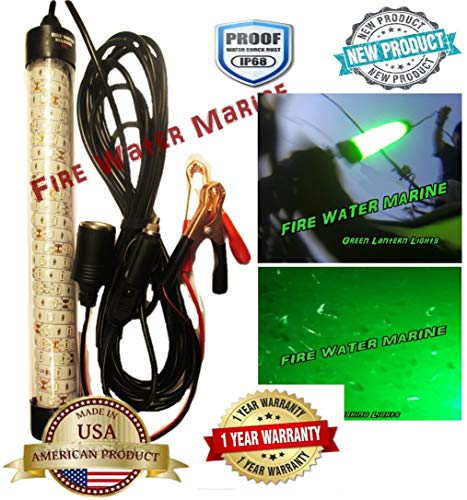 "Fire Water Marine Super Delux 13"" INCH Green 12V 150 LED 5000 Lumen Underwater/Submersible Fishing Light (Green)"