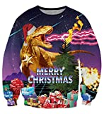 Thunder Dino Ugly Christmas Pullover Sweatshirt