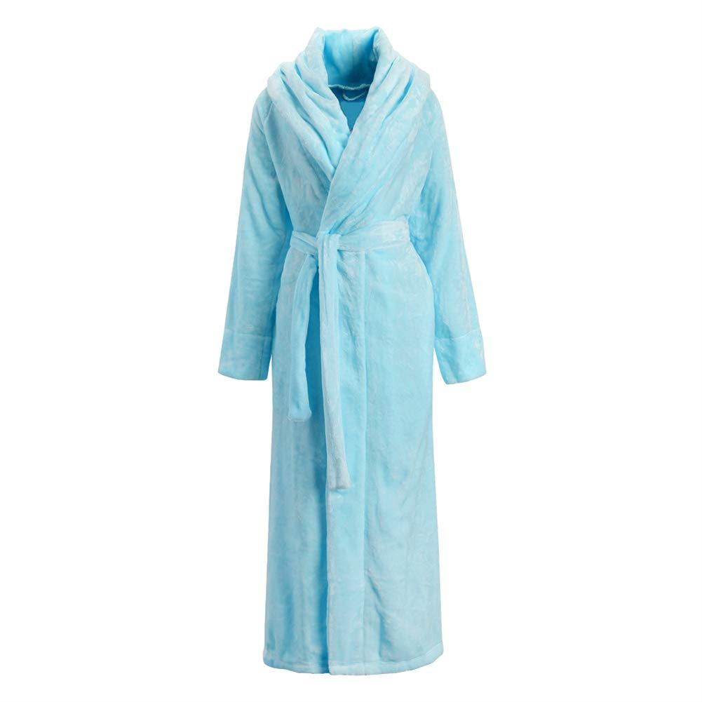 LIVEINU Unisex Plush Fleece Soft Full Long Bathrobe Housecoat Terry Robe ISA-QISHA-yu13