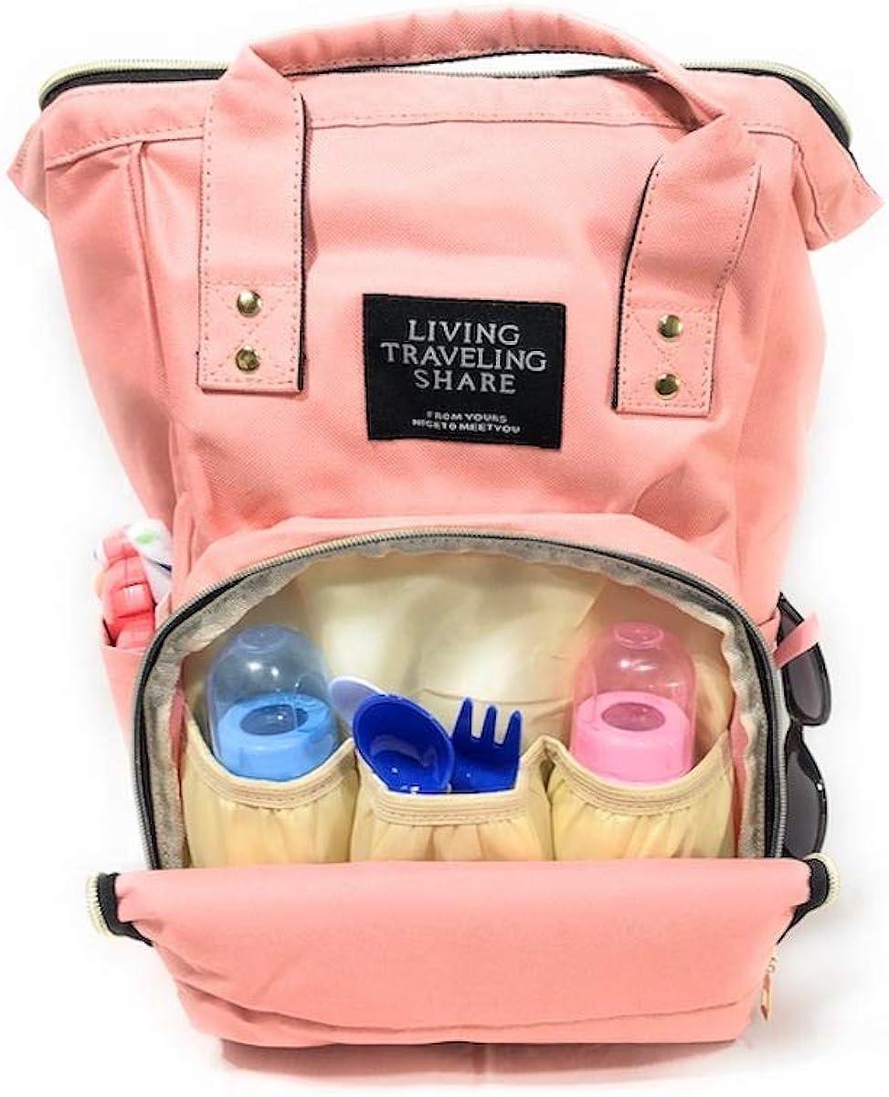 LifeBest Cambiador de pa/ñales de Viaje Plegable port/átil para beb/és Estera Impermeable para pa/ñales para beb/és Cuidado del beb/é Kit de Almohadillas para Cambiar pa/ñales para Viajes Fuera de casa