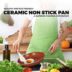 Chef's Star Ceramic Non-Stick Titanium Frying Pan