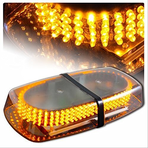 Jackey Awesome 240-LED Snow Plow Safety Strobe Light Warning Emergency 7-Patterns Car Truck Construction Car Vehicle Safety W/ Magnetic Base (Amber)