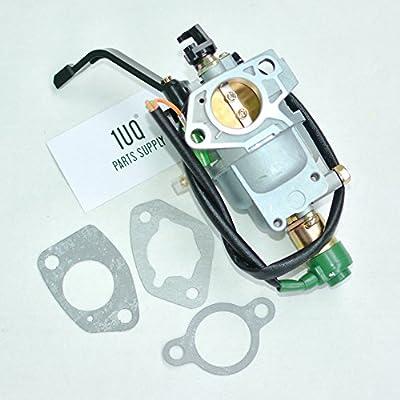 1UQ Manual Choke Carburetor Carb For Hoteche GT10000E 414CC Gas Engine Generator Pump Compressor Tiller Washer Cultivators Splitter