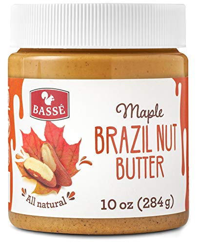 Basse All Natural Brazil Nut Butter, Keto friendly Toast Spread made from Roasted Brazil Nut, Gluten Free, Vegan Butter, Organic Maple 10 Oz (1 Jar) - Organic Salted Butter