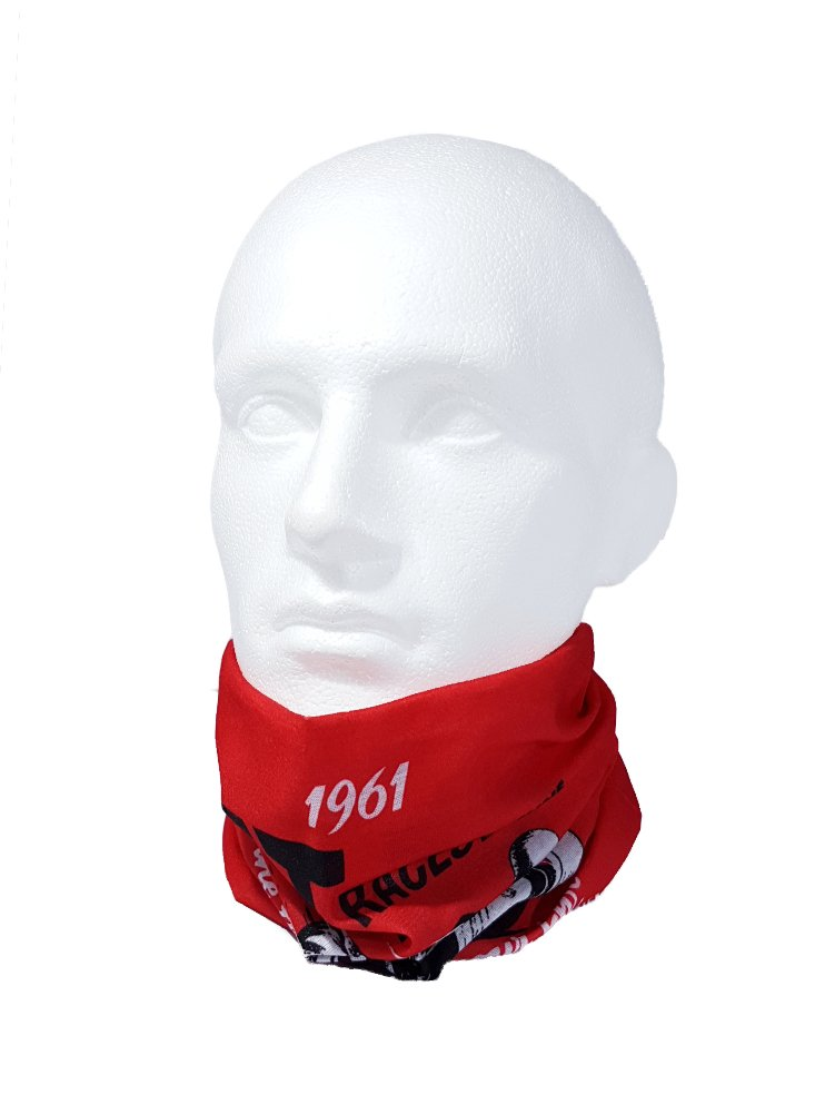 WOMEN /& CHILDREN NECK WARMER Multifunctional scarf//snood IOM ONE SIZE for MEN Ruffnek ISLE OF MAN TT 1961 POSTER DESIGN