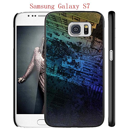 Samsung Galaxy S7 Case, The TV Series The Walking Dead 22 Drop Protection Never Fade Anti Slip Scratchproof Black Hard Plastic Case