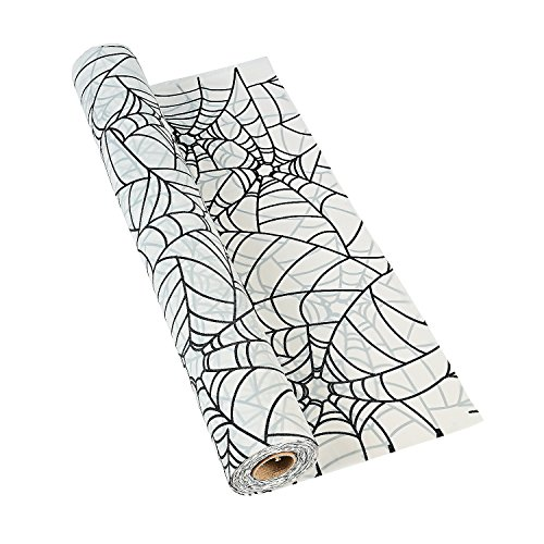 Spiderweb Tablecloth Roll - Halloween Party Supplies. 40