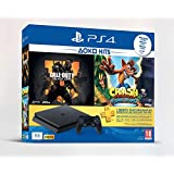 Sony Playstation 4 Slim 1TB Console | 1 Month PSN Subscription | 2 Games : Call Of Duty Black Ops 4 and Crash