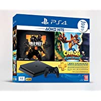Sony PlayStation 4 1TB Console (Black) with 1 Month PSN Subscription and 2 Games (Call Of Duty Black Ops 4 and Crash Bandicoot N-Sane Trilogy) Bundle