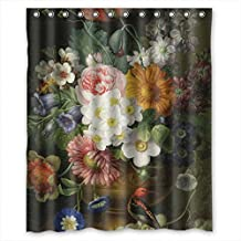 JamesKrisky Famous Classic Art Painting Flowers Blossoms Polyester Bath Curtains Width X Height / 60 X 72 Inches / W * H 150 By 180 Cm For Artwork Teens Mother Boys Him. Eco Friendly. Fabr