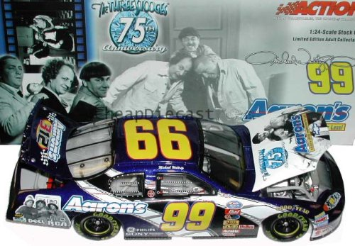 Michael Waltrip Racing Driver - 1/24 Scale Action Nascar #99 Michael Waltrip 2003 Monte Carlo Aaron's / 3 Stooges