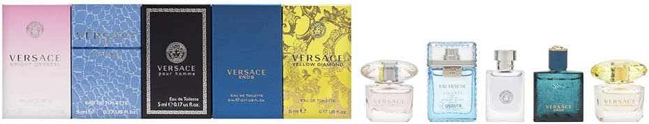 Versace Miniatures Collection Fragrance Gift Set (Pack of 5)