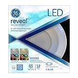 GE Lighting 83572 Reveal LED 12-Watt (65-watt replacement), 650-Lumen  6-inch RS6 Recessed Downlight Bulb with Medium Base, Reveal, 1-Pack