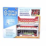 #1: Spicy Shelf Rack Stackable Organizer - Great For Organizing Your Spices Seasoning for kitchen cabinets, crafts, makeup