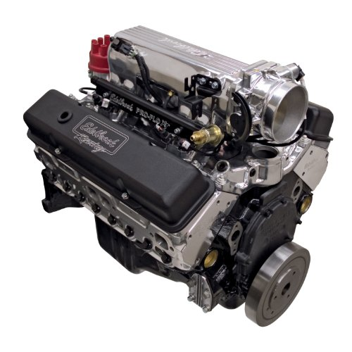 Edelbrock Crate Engines (Edelbrock 46381 Hi-Torq 383 Pro-Flo 3 XT EFI Crate Engine 9.5:1 Compression 408HP/450 Torque Incl. Edelbrock Throttle Body PN[3869] w/o Water Pump Polished Hi-Torq 383 Pro-Flo 3 XT EFI Crate Engine)