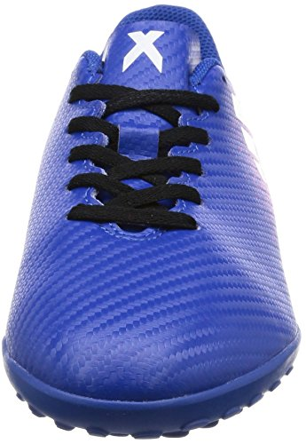 adidas Jungen X 16.4 TF J Futsalschuhe Blau (Blue / Ftwr White / Shock Pink)