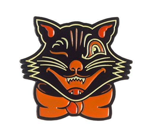Sourpuss Black Cat Enamel Pin ()