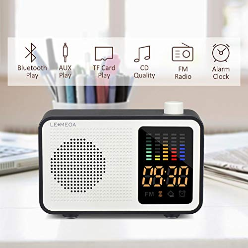 Retro Vintage Fashion (Portable Bluetooth Speaker Vintage Retro Fashion Style Bluetooth 4.1 Wireless Speaker with FM Radio Alarm Clock AUX Input Support TF Card (Black))