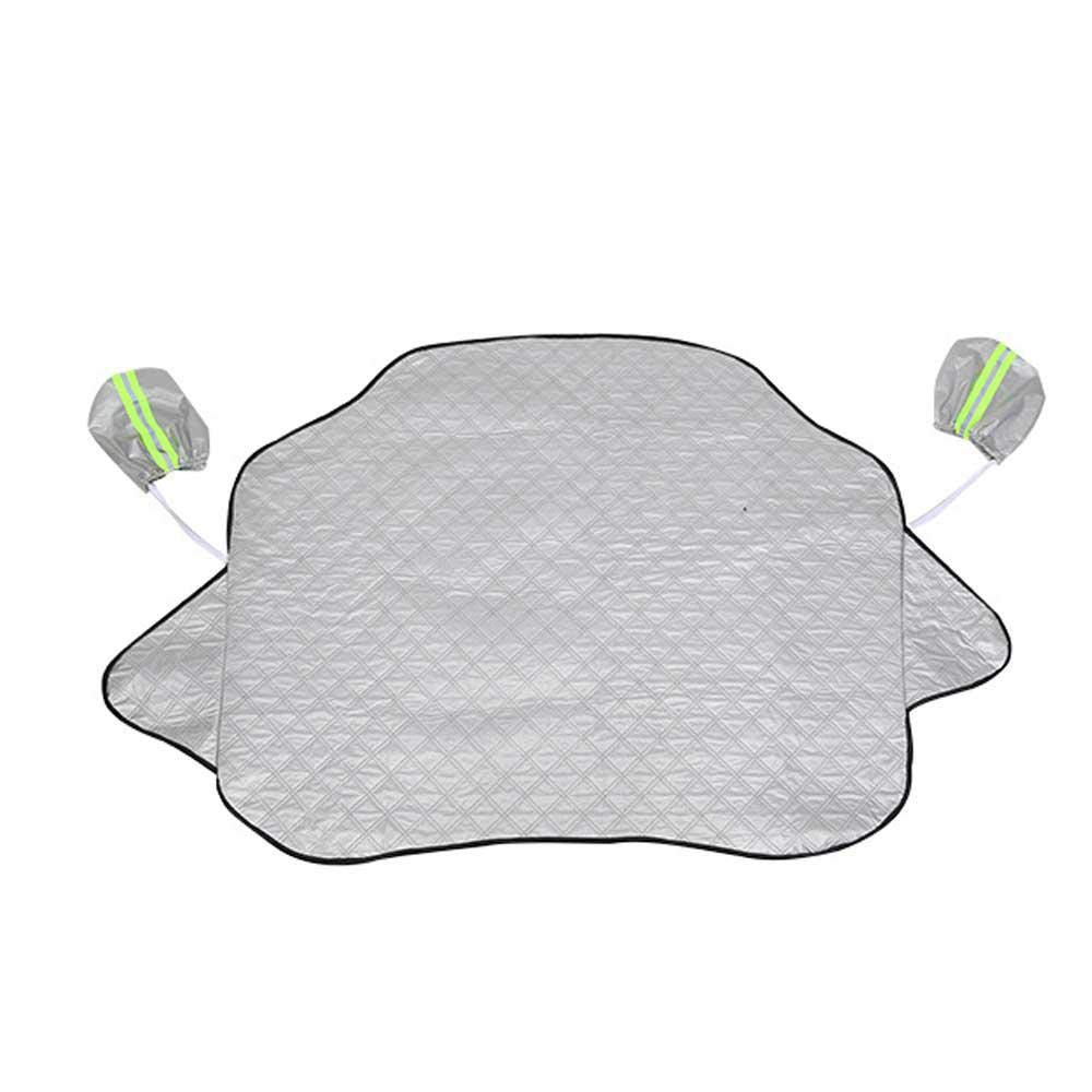LEEGOAL Car Windshield Snow Cover, Car Sided Windshield Sun Shade Protector with Rearview Mirror Sleeve from Snow, Sun, Ice, Frost, Wind, Dust Fits Most Cars