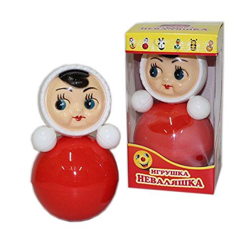 "Price comparison product image Russian Dolls, Russian toys for kids, ""Nevalyashka Doll"" with Sound, Small 4.5"" / 11.2 cm (6C-028)"