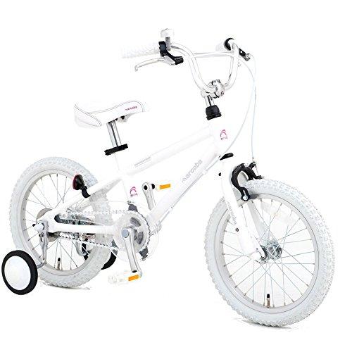 【完全組立出荷】Arcoba 子ども用自転車 2018年モデル16インチ フェンダー付 arcoba アルコバ 子供用自転車 幼児車  TEKTROブレーキホワイトパーツ ハイクオリティー用 子供用自転車 補助輪付 子供  可愛い 入学祝い 小学校 女の子 入園祝い B06XCXSWX1 ホワイト ホワイト