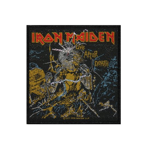 Iron Maiden Live After Death Metal Music Band Woven Applique Patch