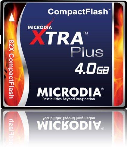 MICRODIA 4GB 82x XTRA Plus Compact Flash CF Card (Retail Package)
