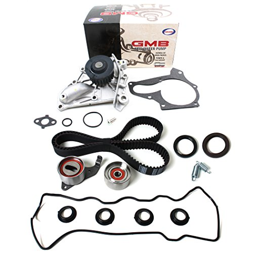 Front Valve Plug (NEW TCK199WPVC-1 (163 TEETH) Timing Belt Kit (w/ Tensiner Springs & Oil Seals), Water Pump Set, & Valve Cover Gasket with Spark Plug Tube Seals for 87-01 Toyota 2.0L & 2.2L DOHC