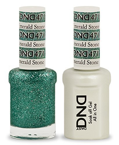 - DND Duo Emerald Stone (0.5 OZ glitter) (0.5, green glitter) by Nails Gel polish And matching lacquers