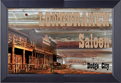 Longbranch Saloon From Gunsmoke miss Kittys Place Framed Print 14 X 21 (Kitty From Gunsmoke)