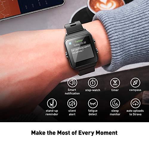 DR.VIVA for Men Women, Tracker GPS Watch Screen Sports Watch Heart Rate/Sleep/Step/Counter Monitor Waterproof GPS Fitness
