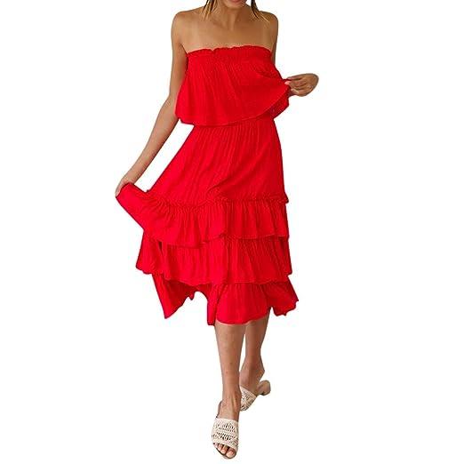 ebfdb714f7cc Lelili Women s Sea Beach Style Dress Set Off-Shoulder Chiffon Elegant  Ruched Tops Ruffle Hem