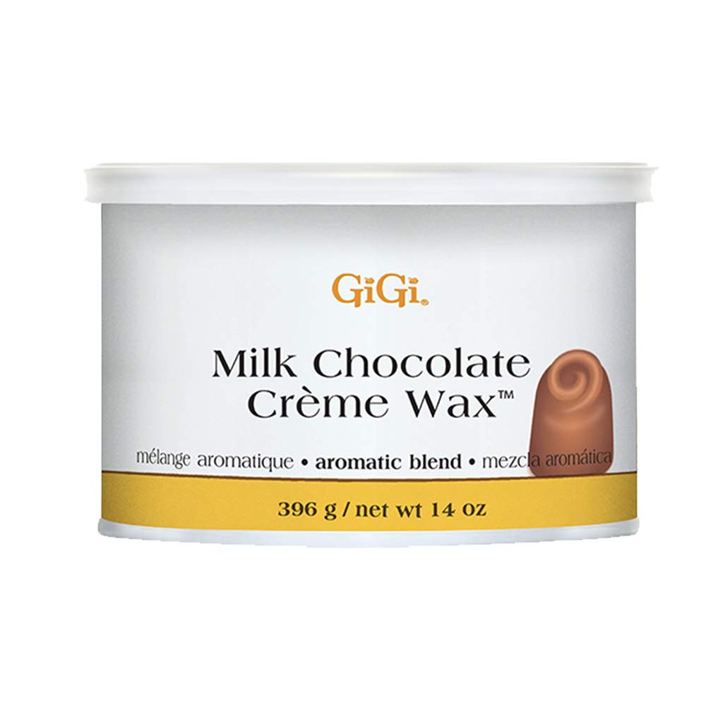 GiGi Milk Chocolate Crème Hair Removal Soft Wax with Cocoa Seed Extract for Coarse to Resistant Hair - 14 oz
