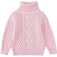 Winter Kids Sweater,Fineser Fashion Children Toddler Baby Girls Boys Solid Sewing Knitted Turtleneck Warm Sweater Navy