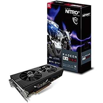 Sapphire 11265-01-20G Radeon NITRO+ RX 580 8GB GDDR5 DUAL HDMI / DVI-D / DUAL DP with backplate (UEFI) PCI-E Graphics Card
