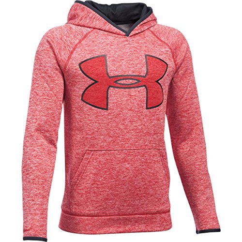Under Armour Boys' Storm Armour Fleece Twist Highlight Hoodie, Red/Black, Youth X-Large