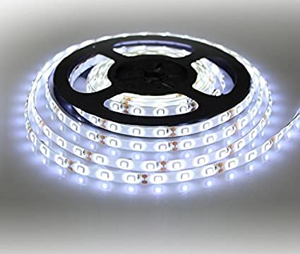 premium selection 2cd93 71b05 Susay LED Strip light, Waterproof LED Flexible Light Strip 12V with 300 SMD  LED, 2835 Cool White 16.4 Foot / 5 Meter