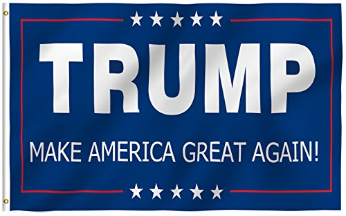 ANLEY [Fly Breeze] 3x5 Foot Donald Trump Flag - Vivid Color and UV Fade Resistant - Canvas Header and Double Stitched - The 45th U.S. President Flags Polyester with Brass Grommets 3 X 5 Ft (Commemorative Flag Cases)