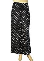 Alfa Global Women's Plus Size 100% Rayon Palazzo Wide Leg Pants