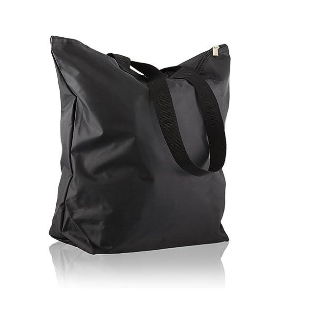 3d43fbfcfb97 Weimi Waterproof Lightweight Nylon Women s Tote Bag Shopper Shopping Bag  Multi-Color (Black-1)  Amazon.co.uk  Luggage