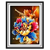 Allywit 2 PCS Creative 5D DIY Diamond Flower Painting Full Drill Cross Rhinestone Embroidery for Wall Decoration Best Gift