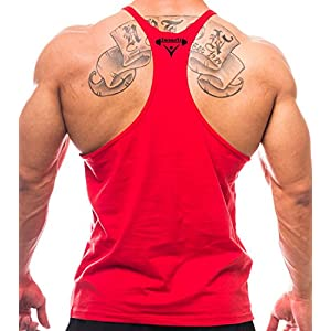 Iwearit Brand Y-Back Muscle Tanktop Straight Bottom – Made in USA
