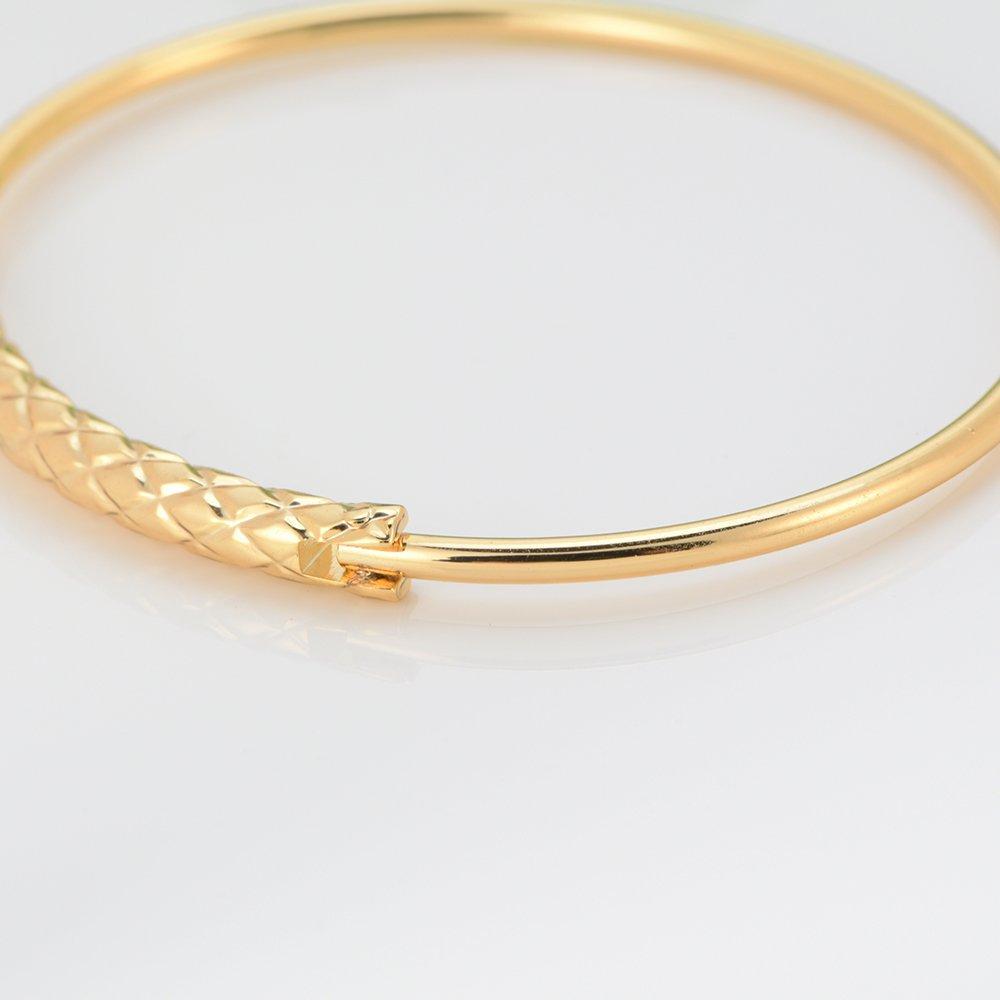 SJ SHI JUN Oval Can open Bangles Fahion Simple Bangles Bracelets Design With Rhombus Pattern