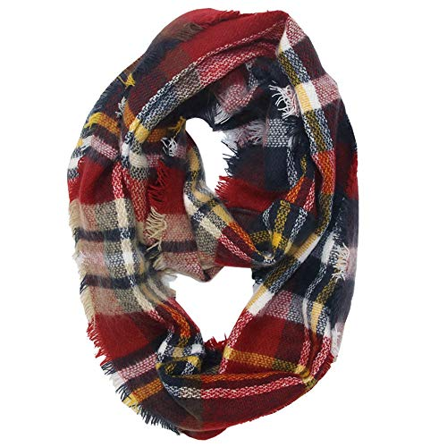 Christmas Scarf Hot Sale!!Kacowpper Winter Warm Plaid Ring Neck Warmer Wrap Collar Scarf -