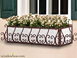 36in. San Simeon Window Box Cage (Square Design) - Textured Bronze