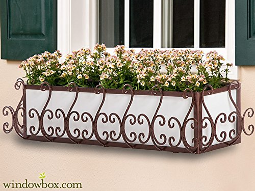 36in. San Simeon Window Box Cage (Square Design) - Textured Bronze by Windowbox