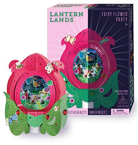 밝은 스트라이프 DIY 랜 땅 동 꽃 파티 3D 종이 손전등 기술 장비의 마법의 공예 장비에 대한 아이들을 만듭 3D 종이 등불을 가진 지도된 차 빛 재미 어린이 활동으로 사용할 수 있습 밤 빛