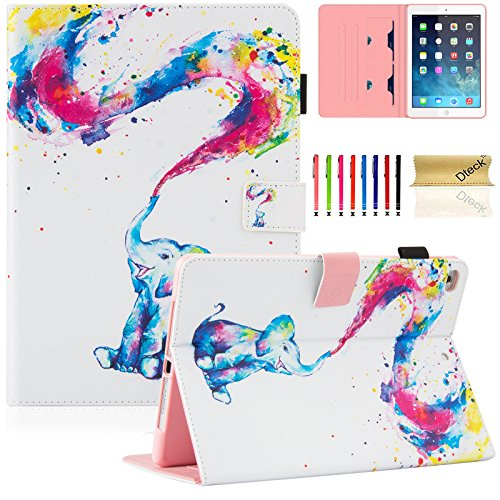 Dteck iPad 9.7 2018 (iPad Air 6th Gen)/2017 (5th Gen) Case - Ultra Slim PU Leather Kickstand Smart Case with Pencil Holder for iPad Air 9.7